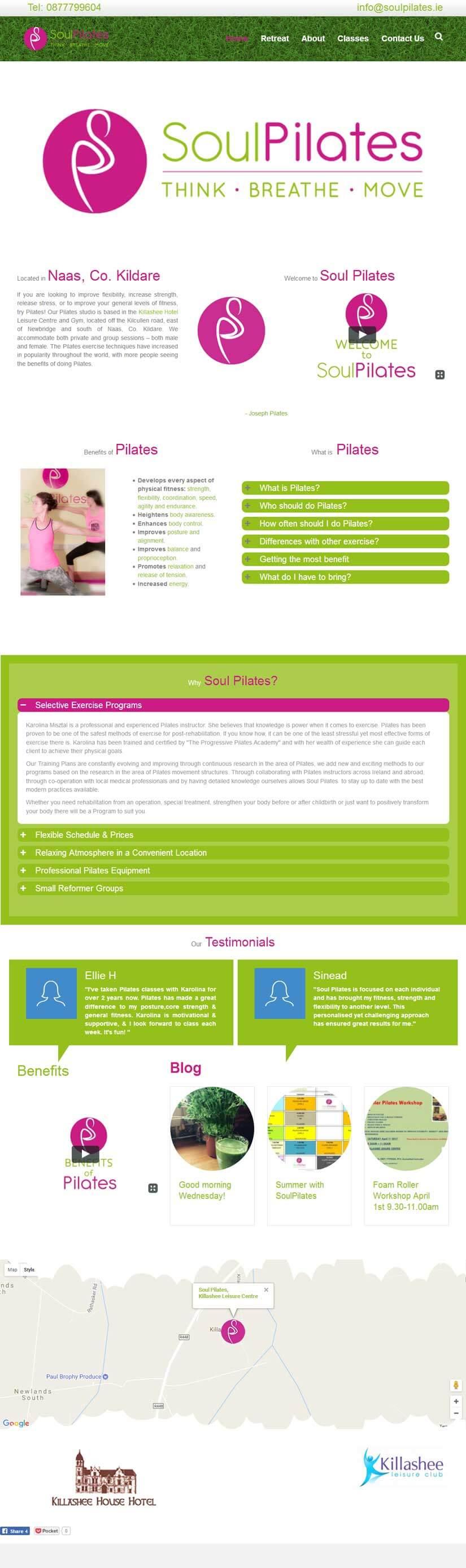 Soul Pilates Naas, Co. Kildare Homepage