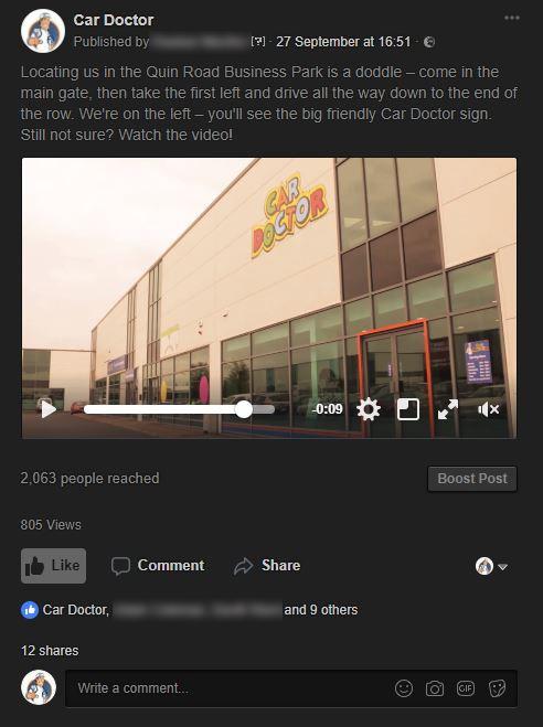 Facebook Video promotion