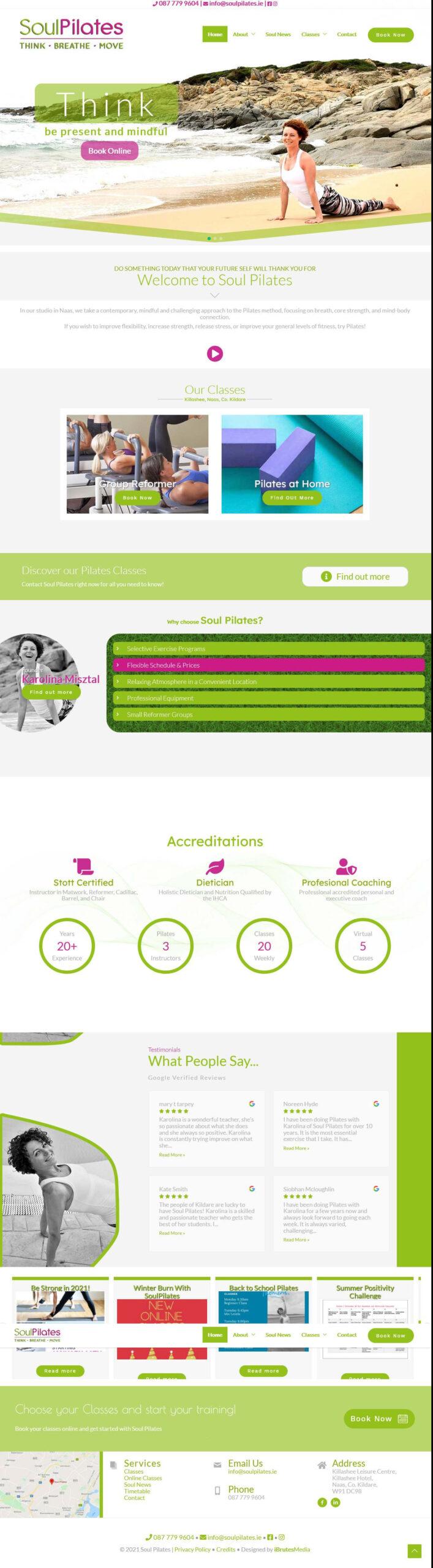 Soul Pilates Long screenshoot website